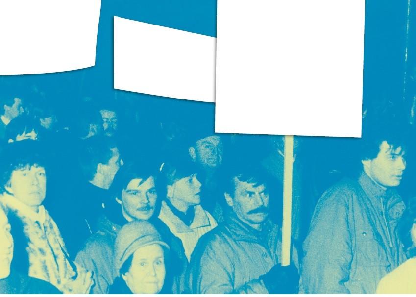 Postkarte »transparent 1989 | 2020« Foto: Klaus Bergmann, Gestaltung: Anke Heelemann